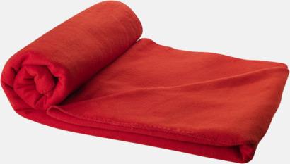 Röd Fleecefilt och bag - med tryck