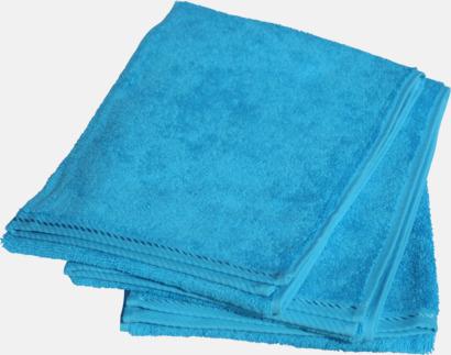 Aqua Blue Mindre bomullshanddukar i många färger med reklambrodyr