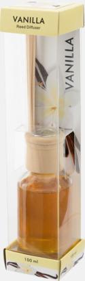 Doftspridare på glasflaska med reklamtryck