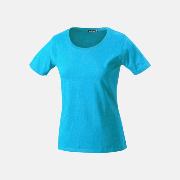 Turkos T-shirtar av kvalitetsbomull med eget tryck
