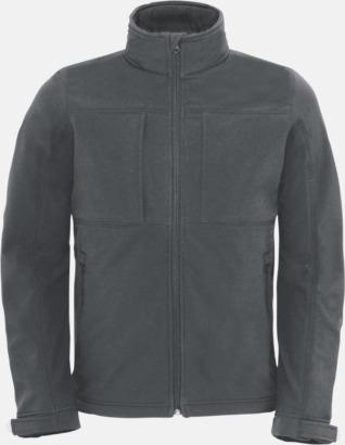 Mörkgrå (herr) Softshell-jackor för vuxna och barn - med reklamtryck