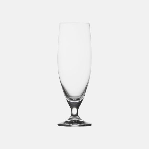 Transparent Ölglas med reklamtryck