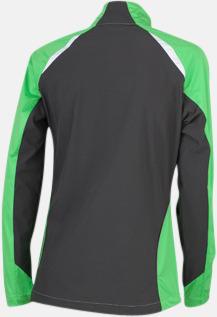 Grön/Carbon (rygg) Vindtäta jackor med eget tryck