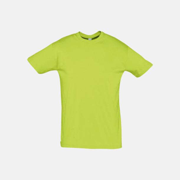 Apple Green Billiga unisex t-shirts i många färger med reklamtryck