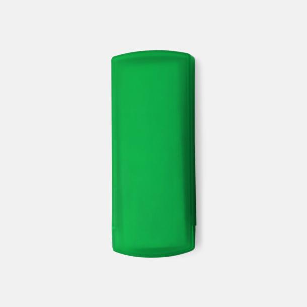 Grön Plåsterask med reklamtryck