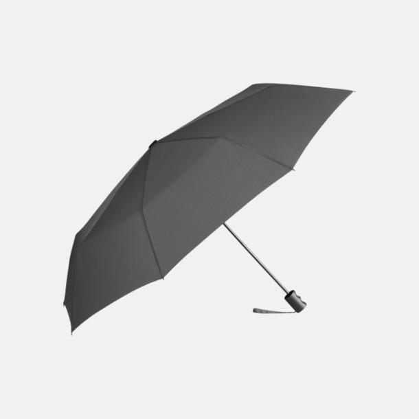 Grå eko-kompaktparaplyer med reklamtryck
