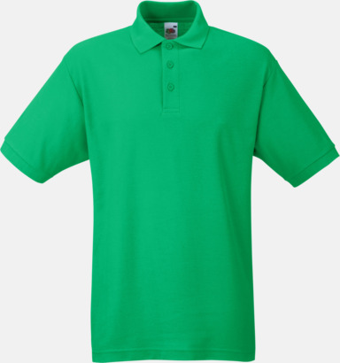 Kelly Green Pikétröjor med reklamtryck eller brodyr