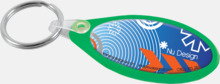Platta plastnyckelringar med digitaltryck
