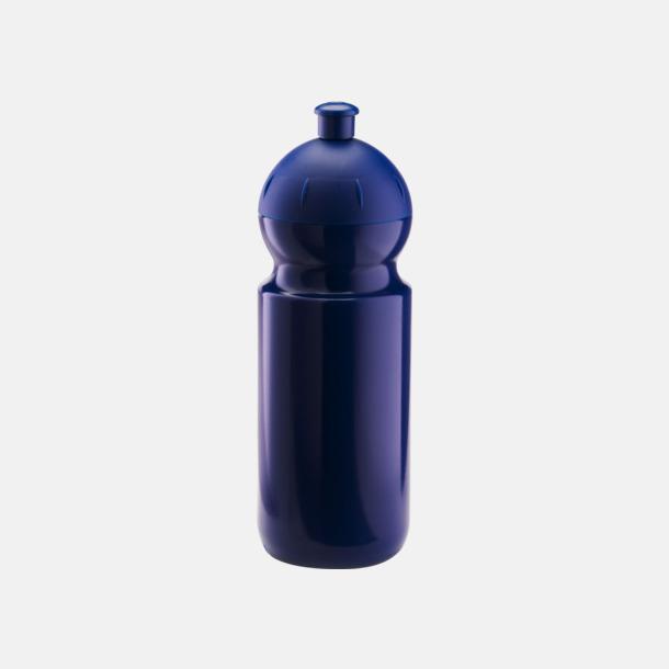 Mörkblå (500 ml) Bulb-vattenflaskor i 4 storlekar med digitaltryck