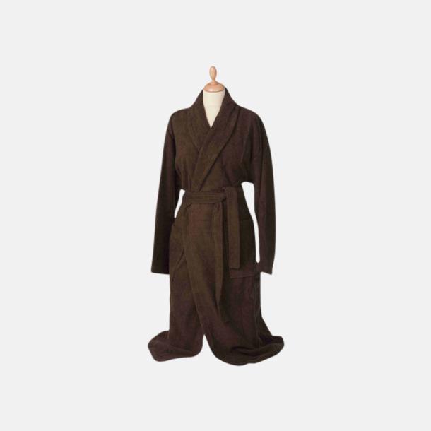Chocolate Brown (mörk) Färgglada badrockar med reklambrodyr