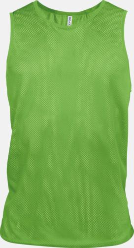 Fluorescerande Grön Lagvästar i många fluorescerande färger med reklamtryck
