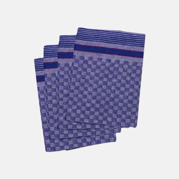 Blå Rutiga handdukar i fin kvalitet med reklambrodyr