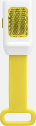 Gul Reflexlampor som är lätta att fästa - med reklamtryck
