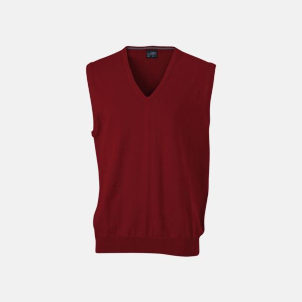 Bordeaux V-ringad pullover med eget tryck