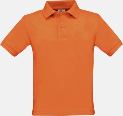 Pimpkin Orange Klassisk pikétröja med reklamtryck
