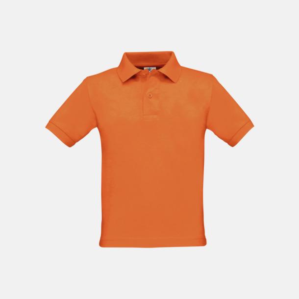 Pimpkin Orange Klassisk barn pikétröja med reklamtryck