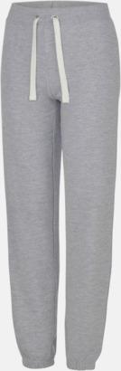 Heather Grey Bekväma byxor i dammodell med reklamtryck
