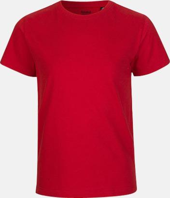 Röd Ekologiska t-shirts för barn av ekologisk bomull - med tryck