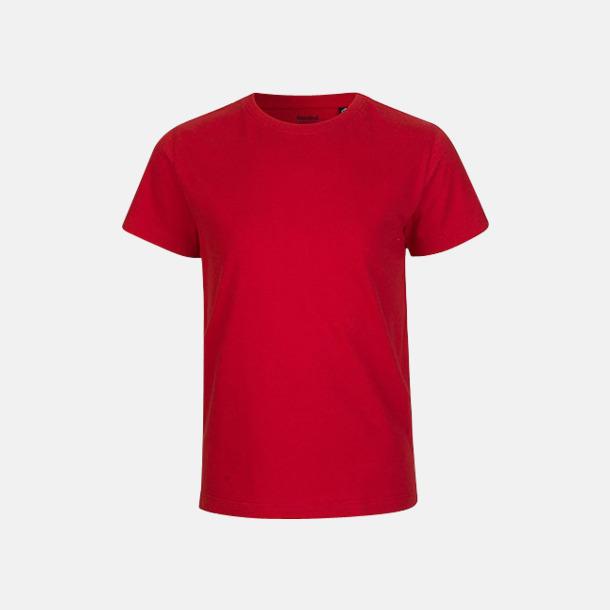 Röd (PMS 199 U) Ekologiska t-shirts för barn av ekologisk bomull - med tryck