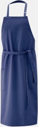 Marinblå (bib 100 x 80 cm) Förkläden i 5 varianter med reklamtryck