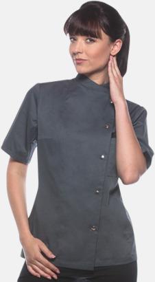Anthracite (kortärmad) Lång- och kortärmade kockjackor i dammodell med reklamtryck