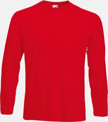 Röd Långärmad t-shirt med reklamtryck