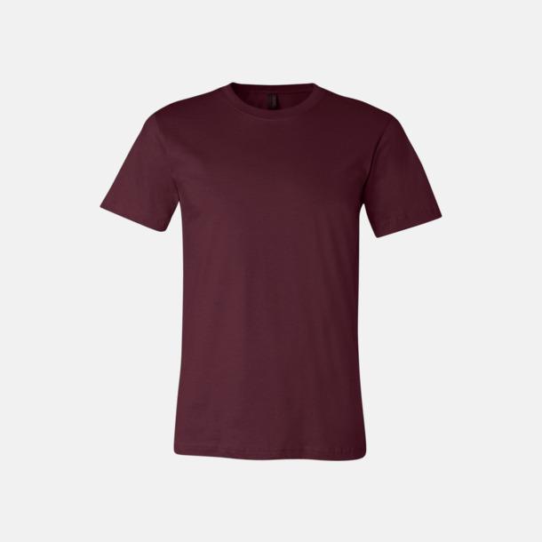 Maroon T-shirts för herr och dam - med reklamtryck