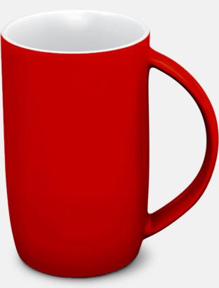 Röd/vit Porslinsmuggar med eget tryck