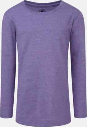 Purple Marl (flicka) Färgstarka långärms t-shirts i herr-, dam och barnmodell