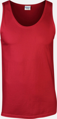 Röd (endast herr) Bomullslinnen i herr- och dammodell med reklamtryck