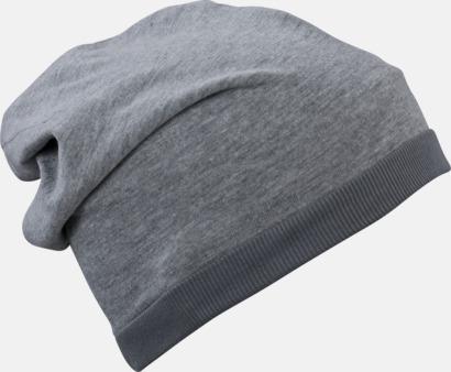 Grey Heather/mörkgrå Tunna sommarmössor med reklambrodyr