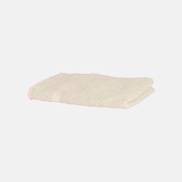 Cream Exklusiva handdukar med egen brodyr