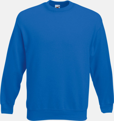 Royal Blue Klassisk sweatshirt med reklamtryck