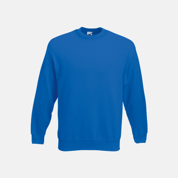 Royal Blue Klassisk sweatshirt med reklamtryck
