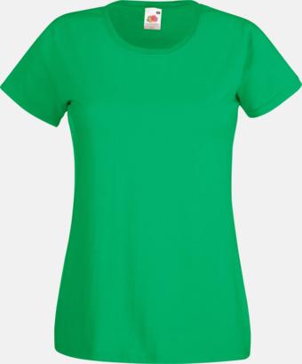 Kelly Green Figursydd damt-shirt med reklamtryck