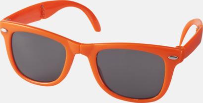 Orange (PMS 021C) Solglasögon med vikbar ram - med tryck