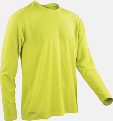 Limegrön (herr) Långärmade funktionströjor i herr- & dammodell med reklamtryck