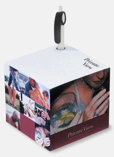 Digitaltryck Papperskub med reklamtryck och pennhål