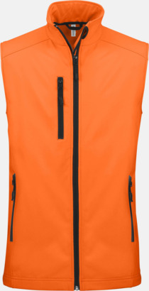 Fluorescerande Orange (endast herr) Softshell Bodywarmers i herr- & dammodell med reklamtryck