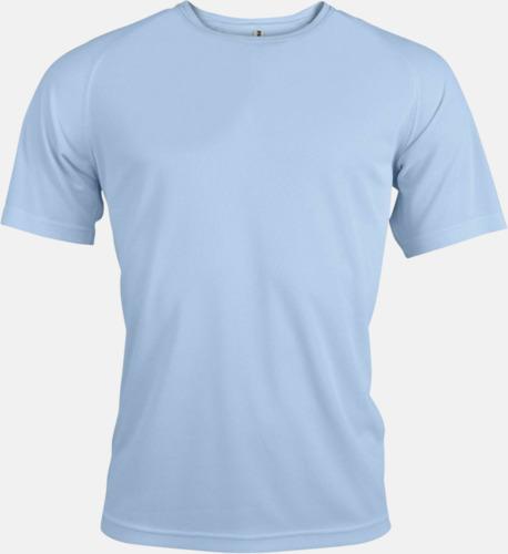 Sky Blue Sport t-shirts i många färger för herrar - med reklamtryck