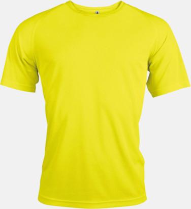 Floucerande Gul Sport t-shirts i många färger för herrar - med reklamtryck