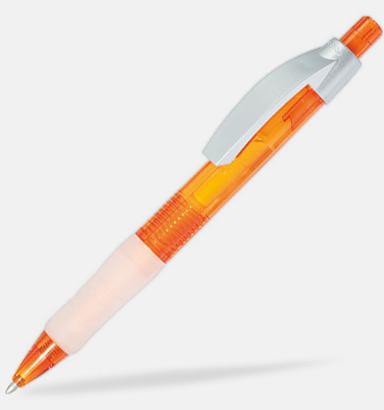 Orange / Transparent Maximilian - Kulspetspennor med tryck