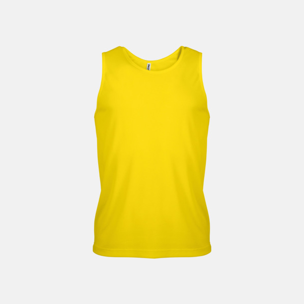 True Yellow Herrlinnen av funktionsmaterial med reklamtryck
