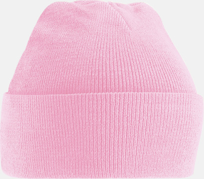 Classic Pink (2) Stickad mössa i många färgstarka alternativ