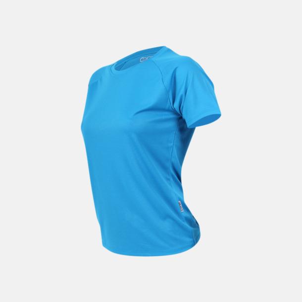 Azur blue Sport t-shirts i många färger - med reklamtryck
