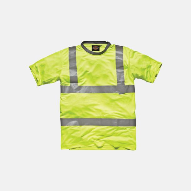 Saturn Yellow Billigare reflex t-shirtar med reklamtryck