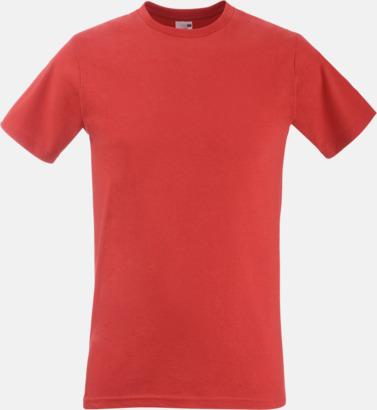 Röd Tajtare reklamt-shirt med figurnära passform