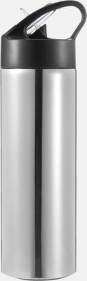 Silver / Svart Vattenflaskor av stål med eget tryck