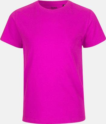 Rosa Ekologiska t-shirts för barn av ekologisk bomull - med tryck