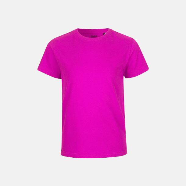Rosa (PMS 226 U) Ekologiska t-shirts för barn av ekologisk bomull - med tryck